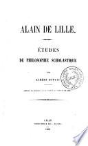 Alain de Lille, études de philosophie scholastique