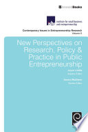 New Perspectives on Research  Policy   Practice in Public Entrepreneurship