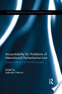 Accountability For Violations Of International Humanitarian Law