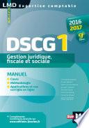 DSCG 1 Gestion juridique fiscale  fiscale et sociale manuel 9e   dition Mill  sime 2016 2017