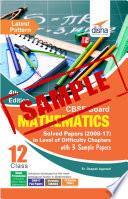 Free Sample   CBSE Board Class 12 Mathematics Difficulty wise Solved Papers in  level of Difficulty