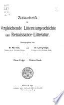 Zeitschrift für vergleichende litteraturgeschichte...