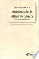 Handbook on Automobile   Allied Products  2nd Revised Edition