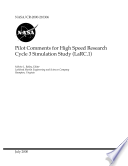 Pilot Comments For High Speed Research Cycle 3 Simulation Study Larc 1