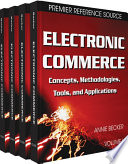 Electronic Commerce  Concepts  Methodologies  Tools  and Applications