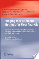Imaging Measurement Methods for Flow Analysis