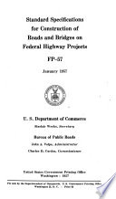 Standard Specifications For Construction Of Roads And Bridges On Federal Highway Projects Fp 57