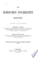 Die römischen Inschriften in Dacien