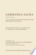 Das Kollegiatstift St. Martin und St. Severus zu Münstermaifeld. Die Bistümer der Kirchenprovinz Trier. Das Erzbistum Trier 12