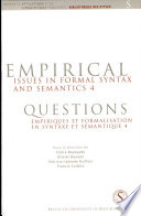Empirical Issues in Formal Syntax and Semantics 4