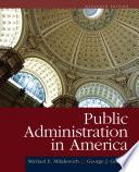 Public Administration In America
