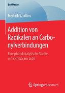 Addition von Radikalen an Carbonylverbindungen