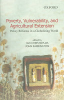Poverty, Vulnerability, and Agricultural Extension