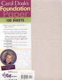 Carol Doak s Foundation Paper