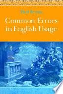 Common Errors in English Usage Book PDF
