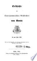 Geschichte des Hinterpommerschen Geschlechtes von Bonin