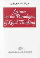 Lectures on the Paradigms of Legal Thinking