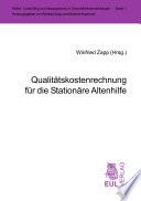 Qualitätskostenrechnung für die stationäre Altenhilfe