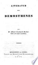 Demosthenes als Staatsbürger Redner und Schriftsteller von Dr. Albert Gerhard Becker ...
