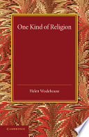 One Kind Of Religion book