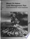 Gifford Pinchot National Forest N F Mount St Helens Land Management Plan D F Maps B1 Forest Service Planning