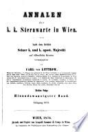 Annalen der K.-K. Sternwarte in Wien