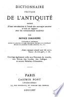 Dictionnaire Pratique Le L Antiquit