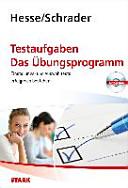 Testtraining / Testaufgaben. Das Übungsprogramm