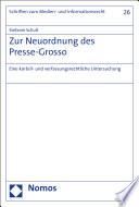 Zur Neuordnung des Presse-Grosso