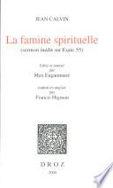 La Famine spirituelle