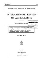 International Review of Agriculture International Review Of The Science And Practice Of
