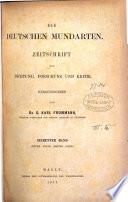Die Deutschen Mundarten, herausg von G.K. Frommann