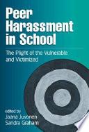 Peer Harassment In School