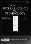 Journal Of Nuclear Science And Technology book