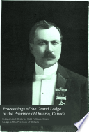 Proceedings of the Grand Lodge of the Province of Ontario  Canada