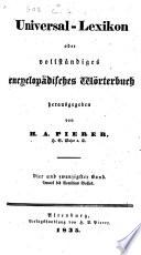 Universal Lexicon Oder Vollst Ndiges Encyclop Disches W Rterbuch