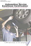 ASE Automotive A1 A8 Sample Questions 1 000 Questions book  Automotive Service Excellence Certification ASE