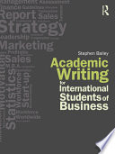 Academic Writing For International Students Of Business book