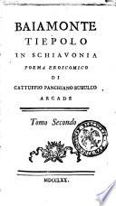 Bajamonte Tiepolo Poema eroico di Cattuffio Panchiano Bubulco arcade  Tomo primo    secondo