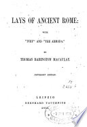 Lays Of Ancient Rome Pdf/ePub eBook