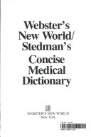 Webster s New World Stedman s Concise Medical Dictionary