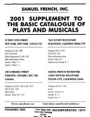 Basic Catalogue Of Plays And Musicals