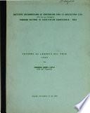 Informe de Labores del Pnca 1984