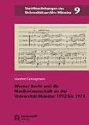 Werner Korte und die Musikwissenschaft an der Universität Münster 1932 bis 1973