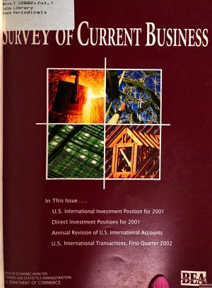 Download Pdf Survey of Current Business