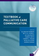 Textbook Of Palliative Care Communication