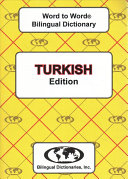 Turkish Word to Word Bilingual Dictionary