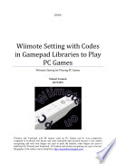 Wiimote Setting with Codes in Gamepad Libraries to Play PC Games