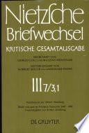 Friedrich Nietzsche - Briefwechsel - Kritische Gesamtausgabe
