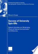 Success of University Spin Offs